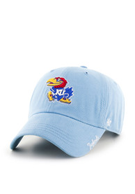 47 Kansas Jayhawks Womens Light Blue Miata Clean Up Adjustable Hat