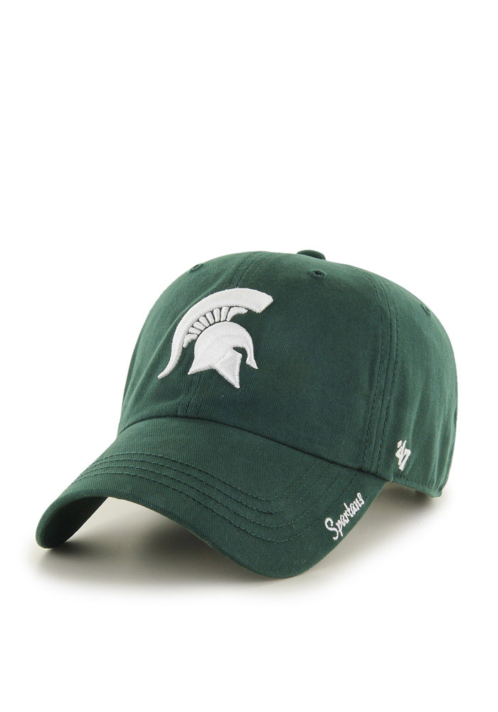47 Michigan State Spartans Green Miata Clean Up Womens Adjustable Hat - Image 1