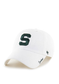 47 Michigan State Spartans Womens White Miata Clean Up Adjustable Hat