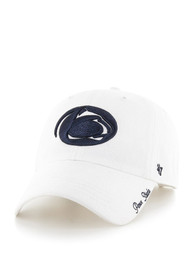 47 Penn State Nittany Lions Womens White Miata Clean Up Adjustable Hat