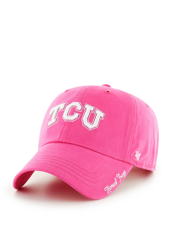 '47 TCU Horned Frogs Pink Miata Clean Up Womens Adjustable Hat - Image 1