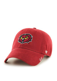 47 Temple Owls Womens Red Miata Clean Up Adjustable Hat