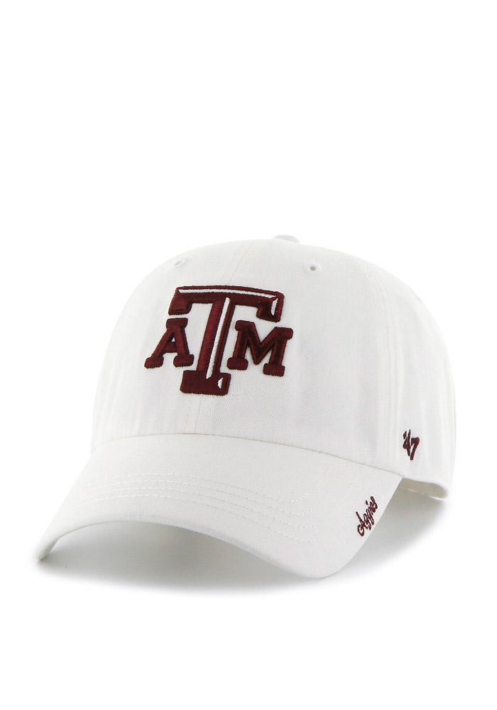 '47 Texas A&M Aggies White Miata Clean Up Womens Adjustable Hat - Image 1