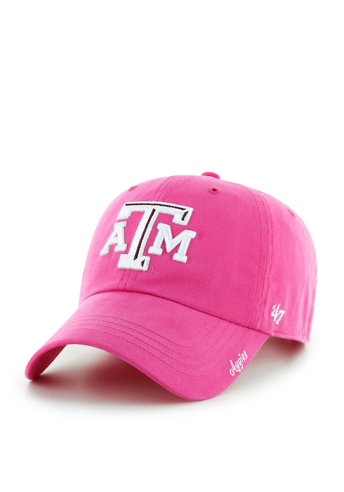 '47 Texas A&M Aggies Pink Miata Clean Up Womens Adjustable Hat - Image 1