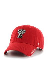 new style 303a2 a8bc7  47 Texas Tech Red Raiders Womens Red Miata Clean Up Adjustable Hat