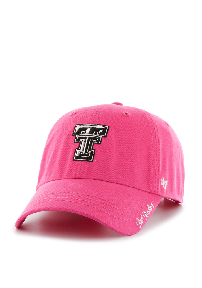 '47 Texas Tech Red Raiders Pink Miata Clean Up Womens Adjustable Hat - Image 1