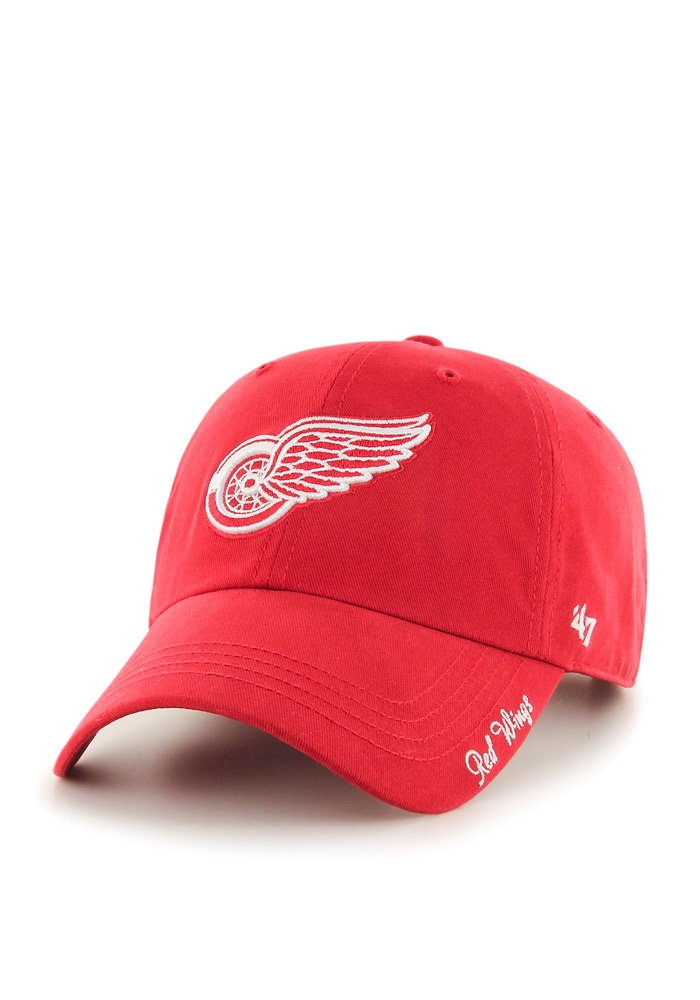 47 Detroit Red Wings Red Miata Clean Up Womens Adjustable Hat - Image 1