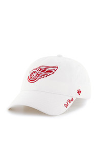 47 Detroit Red Wings Womens White Miata Clean Up Adjustable Hat