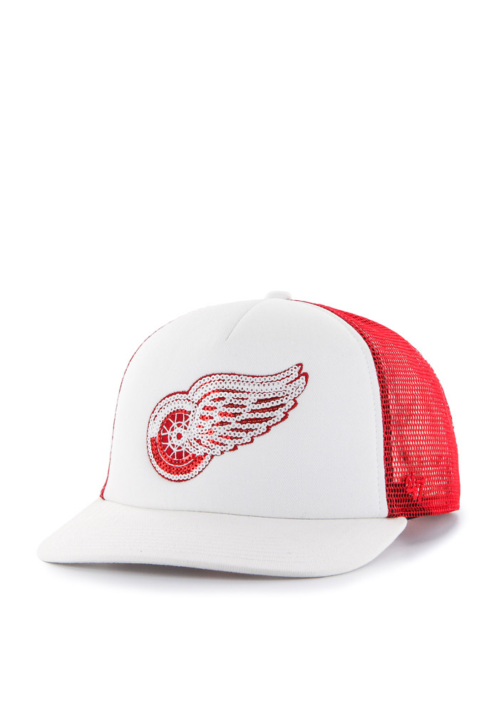 47 Detroit Red Wings Red Glimmer Womens Adjustable Hat - Image 1