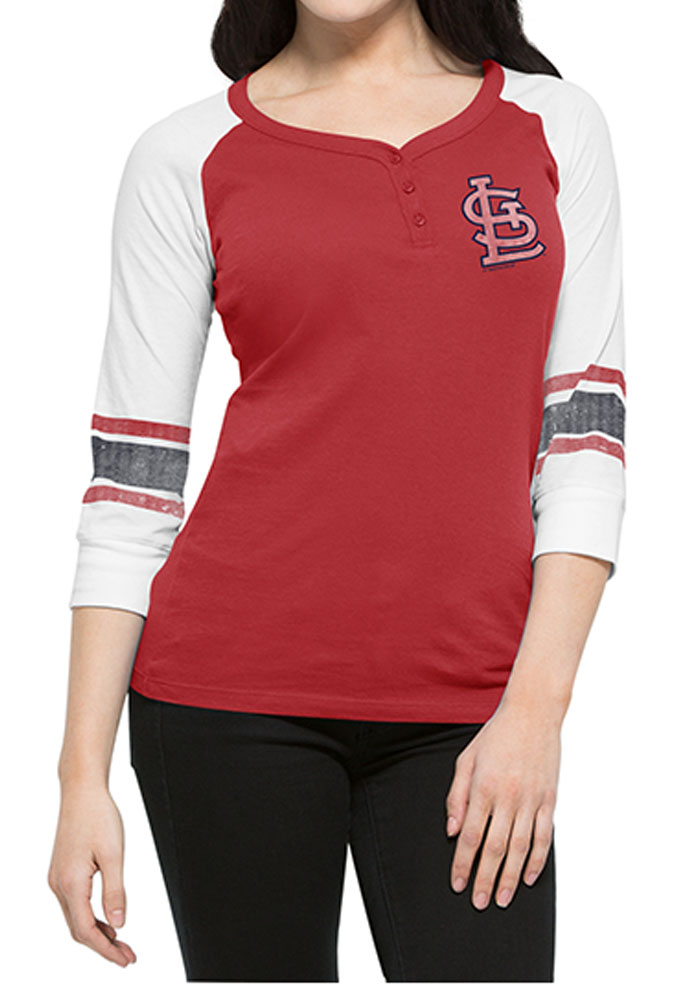 '47 St Louis Cardinals Womens Red LS Tee - Image 1