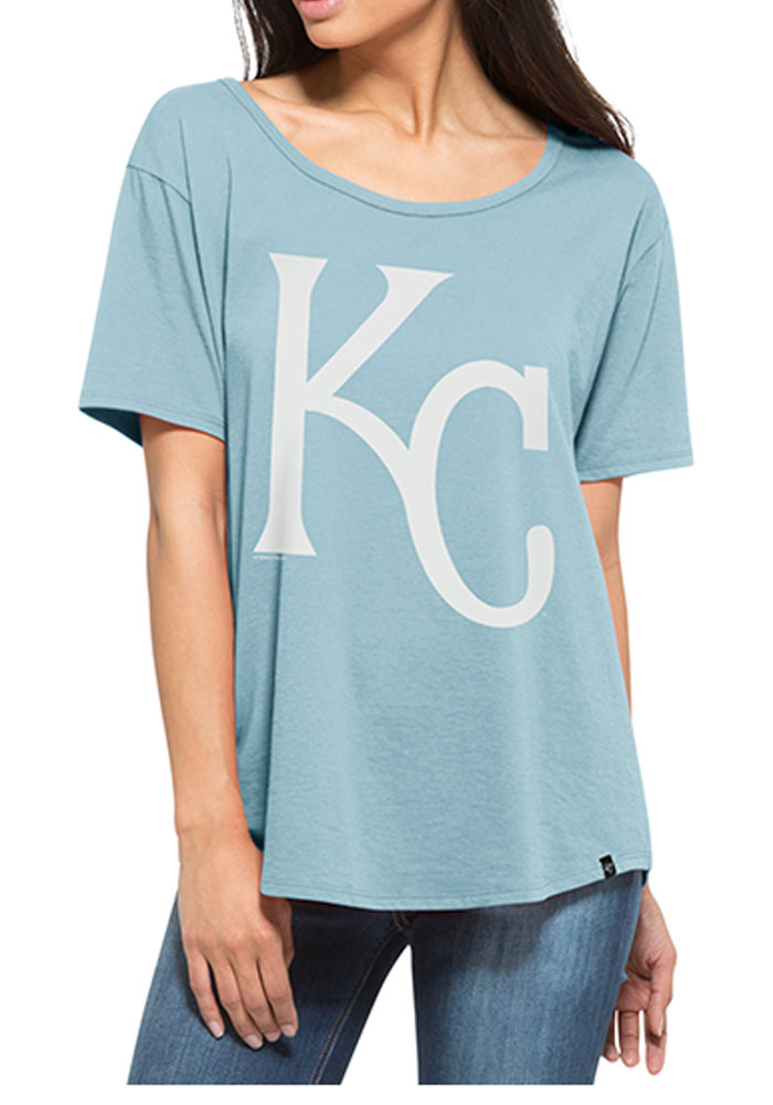 '47 Kansas City Royals Womens Light Blue Boyfriend Short Sleeve Scoop - Image 1