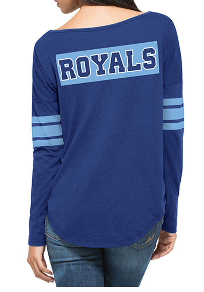 '47 Kansas City Royals Womens Blue Ultra Courtside LS Tee - Image 2
