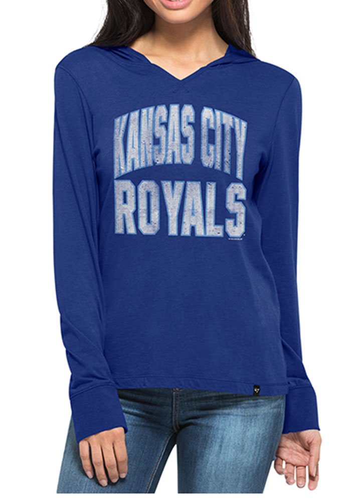 '47 Kansas City Royals Womens Blue MVP Hooded Sweatshirt - Image 1