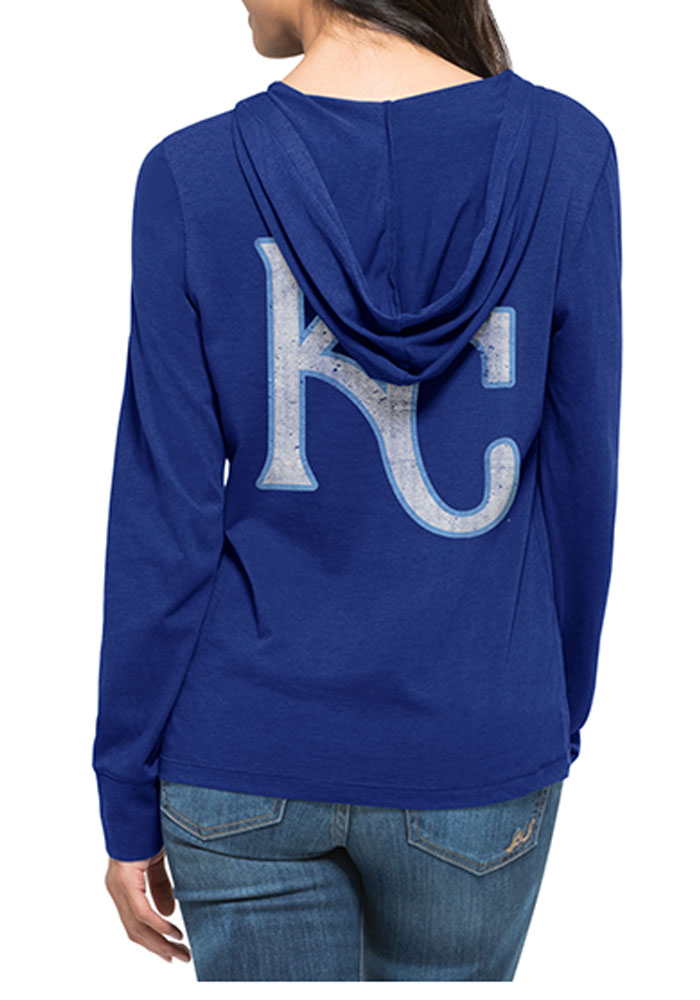 '47 Kansas City Royals Womens Blue MVP Hooded Sweatshirt - Image 2