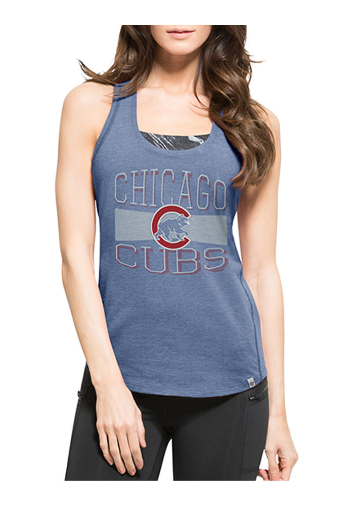 47 Chicago Cubs Womens Blue High Point Tank Tank Top - Image 1