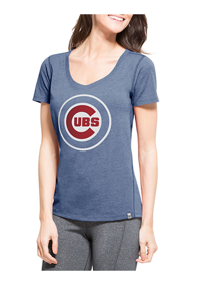 47 Chicago Cubs Womens Blue SS Athleisure Shift Tee Tee