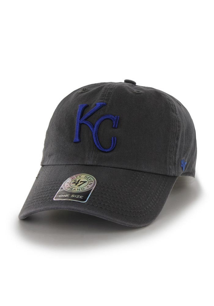 47 Kansas City Royals Clean Up Adjustable Hat - Charcoal - Image 1