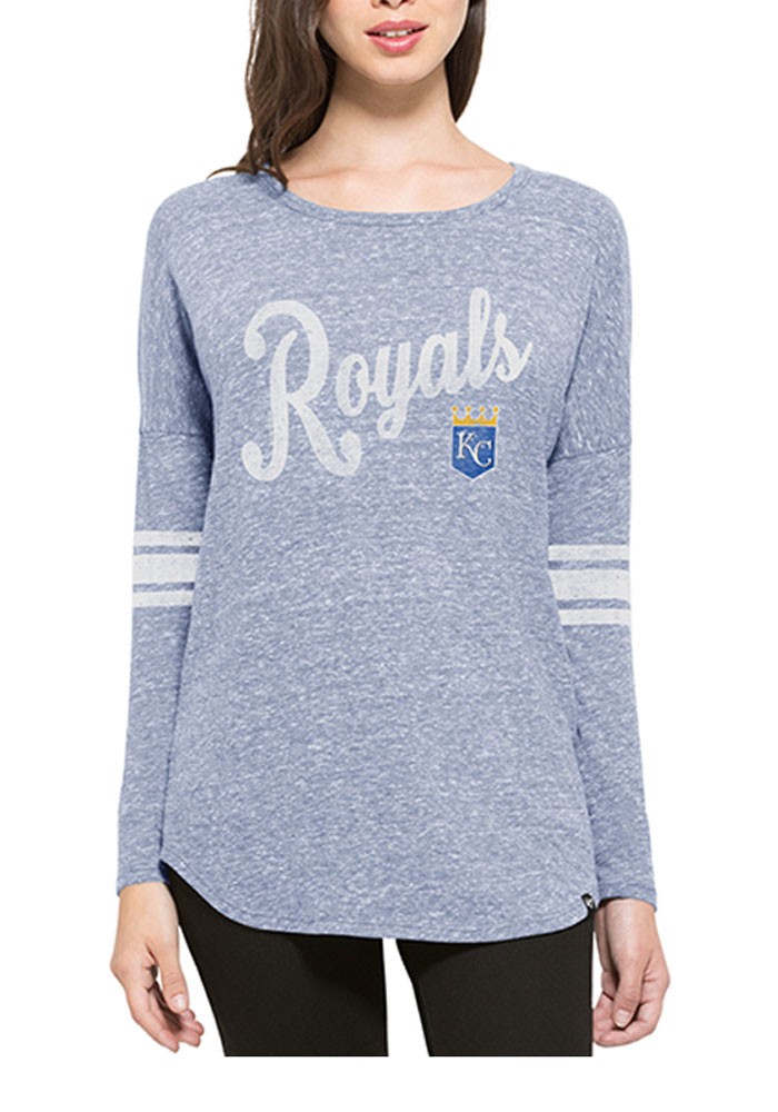 '47 Kansas City Royals Womens Blue Neps LS Tee - Image 1