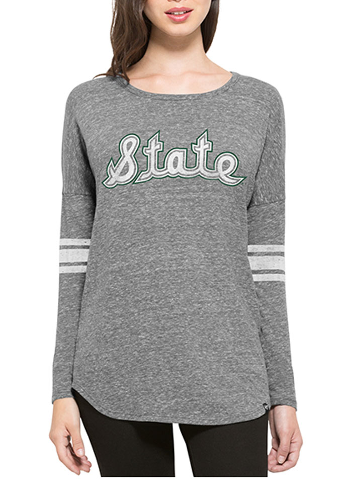 47 Michigan State Spartans Juniors Grey Neps LS Tee - Image 1