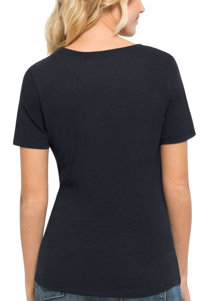 47 Penn State Nittany Lions Womens Navy Blue Runback Scoop T-Shirt - Image 2