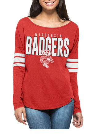 '47 Wisconsin Badgers Womens Courtside Red LS Tee