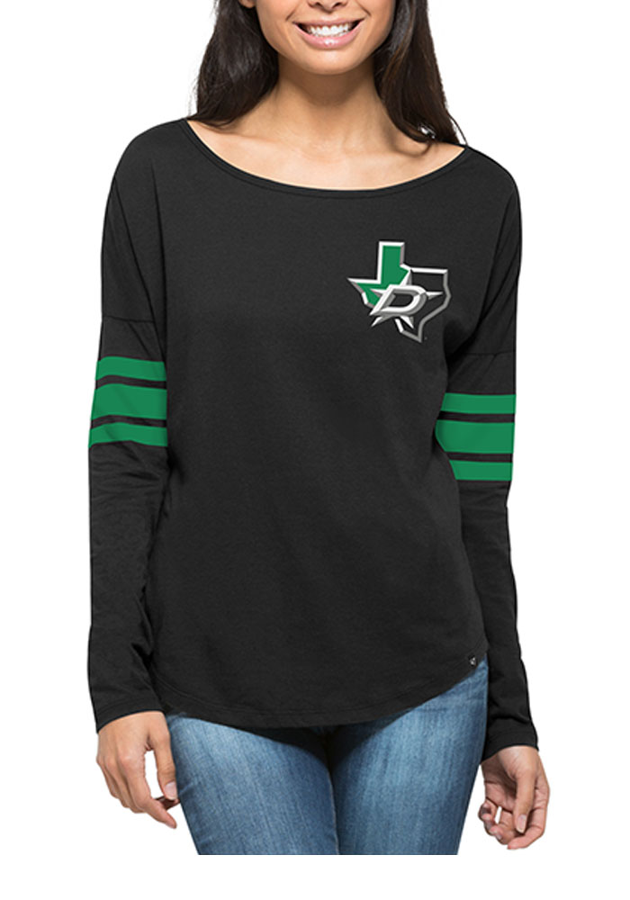 '47 Dallas Stars Womens Black Ultra Courtside LS Tee - Image 2