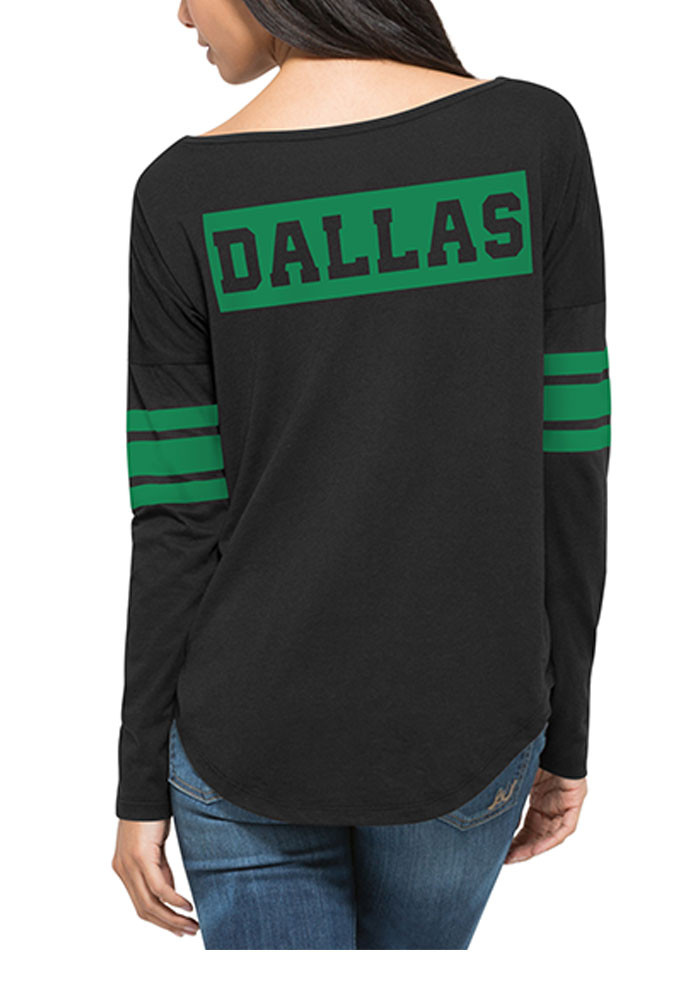 '47 Dallas Stars Womens Black Ultra Courtside LS Tee - Image 3