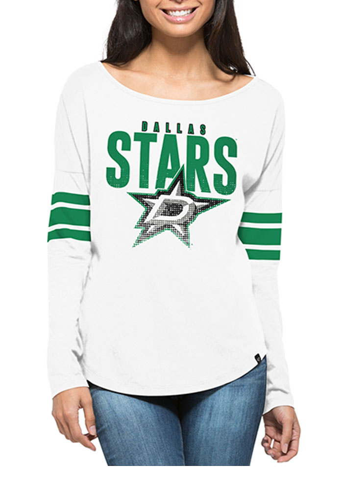 '47 Dallas Stars Womens White Courtside LS Tee - Image 1