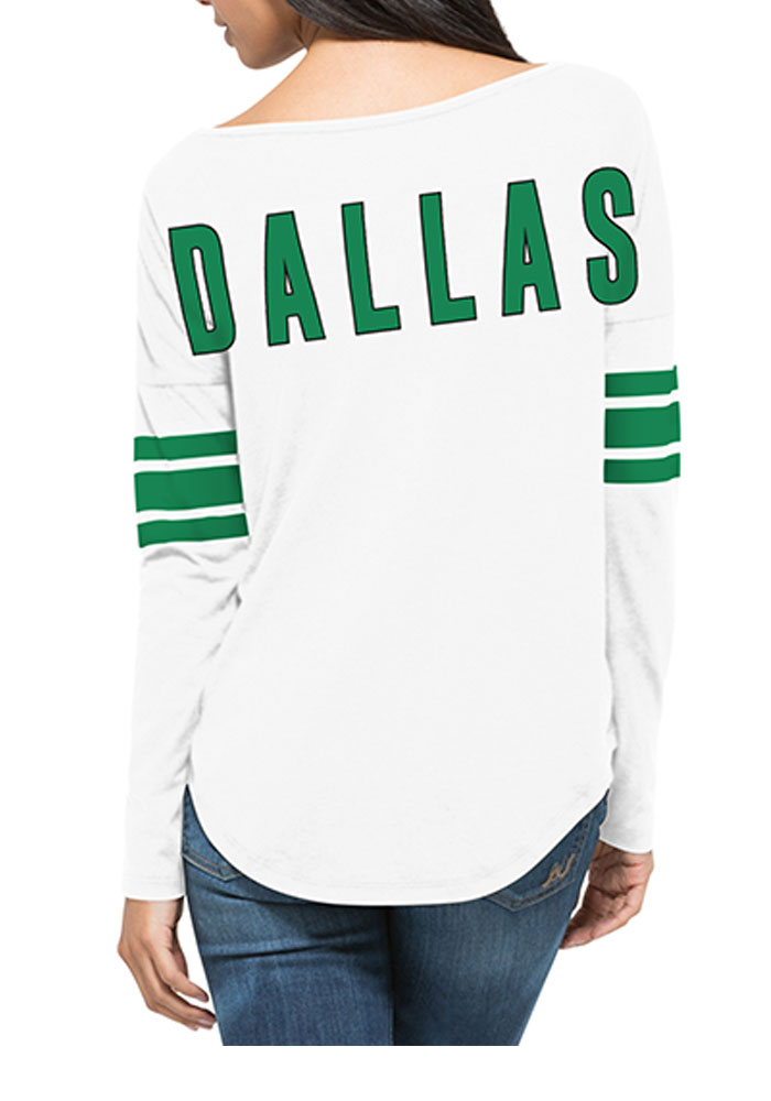 '47 Dallas Stars Womens White Courtside LS Tee - Image 2