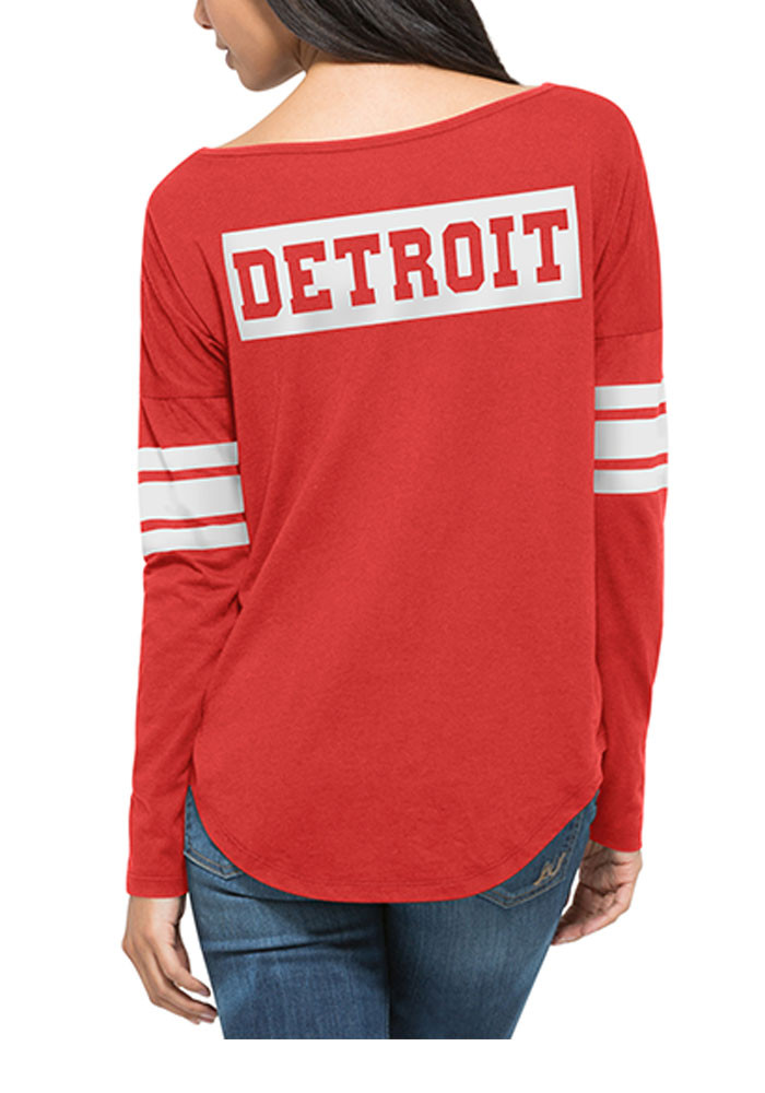 '47 Detroit Red Wings Womens Red Ultra Courtside LS Tee - Image 2