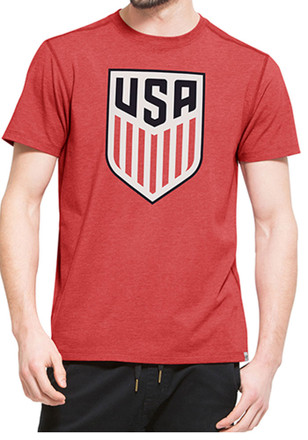 '47 Mens Red Forward Performance Tee