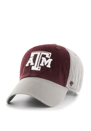 '47 Texas A&M Aggies Mens Grey Sophomore Clean Up Adjustable Hat
