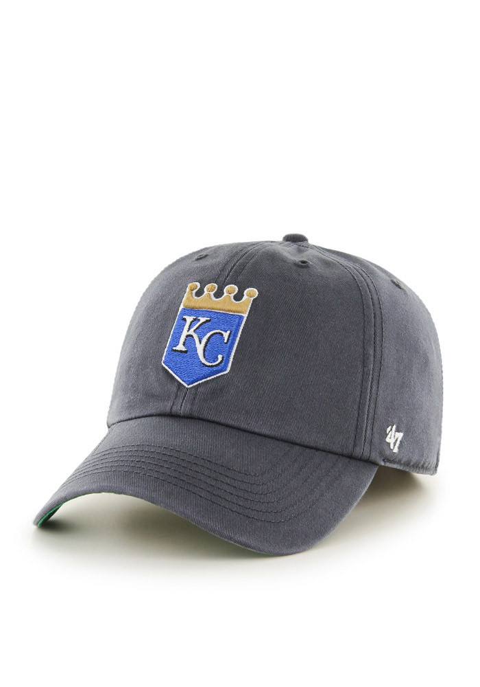 '47 Kansas City Royals Mens Grey Crown Franchise Fitted Hat - Image 1