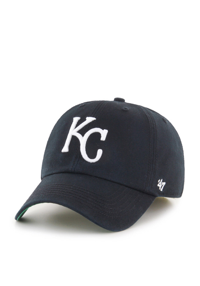 '47 Kansas City Royals Mens Black Franchise Fitted Hat - Image 1
