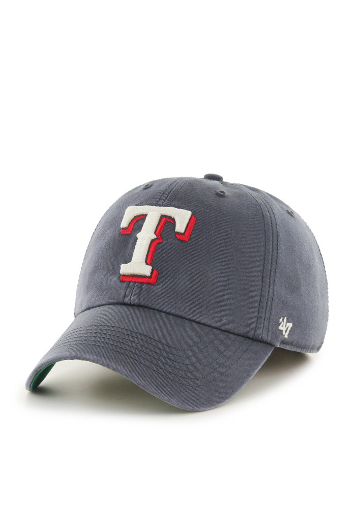 47 Texas Rangers Mens Charcoal Franchise Fitted Hat - Image 1