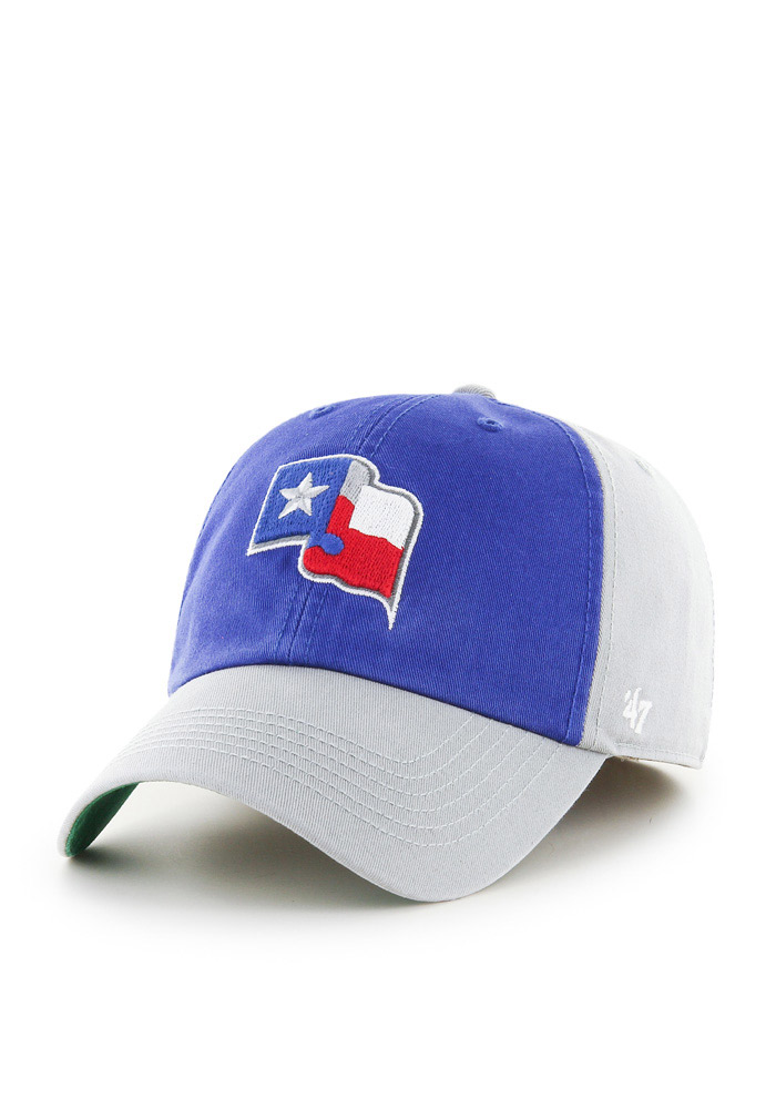 47 Texas Rangers Mens Grey Sophomore Franchise Fitted Hat - Image 1