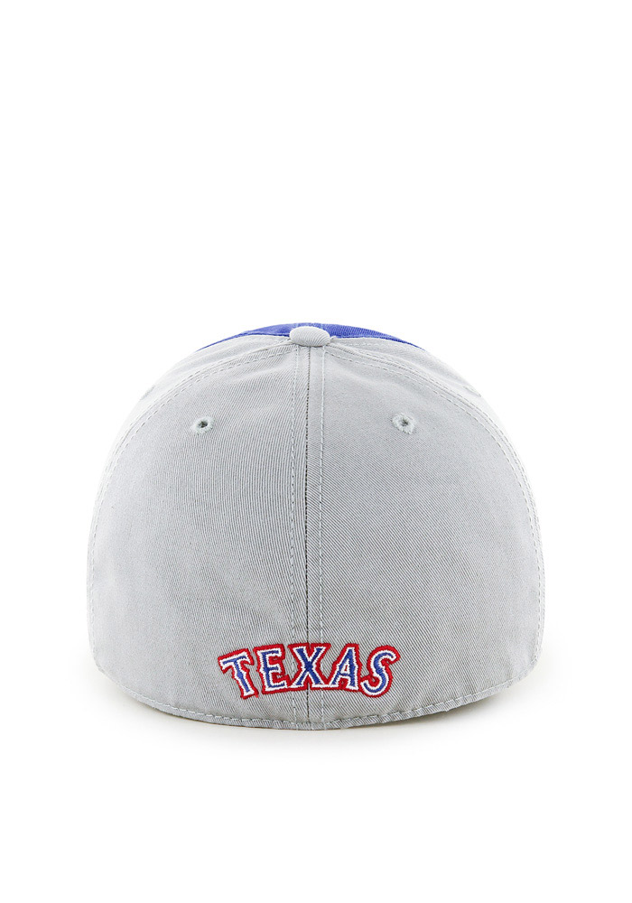 47 Texas Rangers Mens Grey Sophomore Franchise Fitted Hat - Image 2