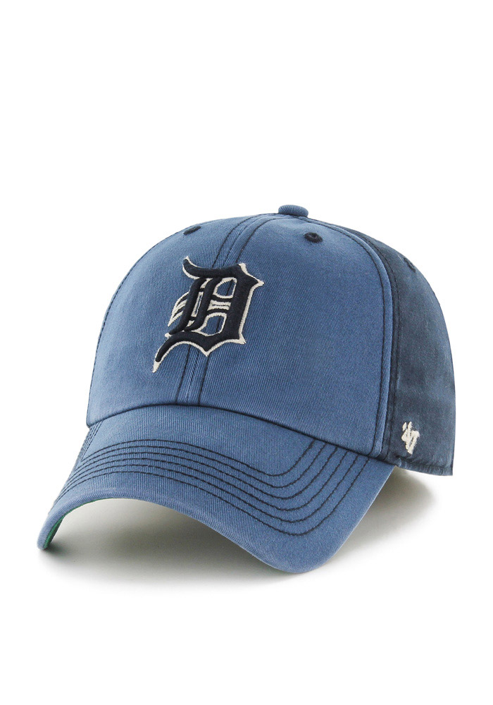 880b05ae ... get detroit tigers 47 navy blue humboldt franchise fitted hat 3e397  1b482