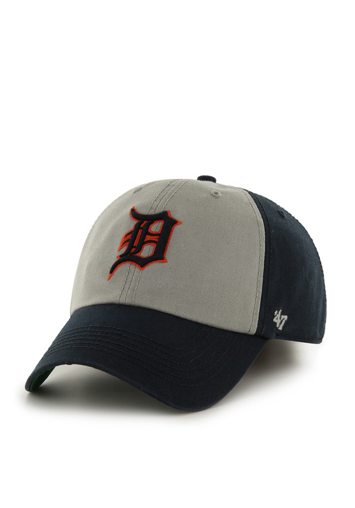 '47 Detroit Tigers Mens Navy Blue Sophomore Franchise Fitted Hat - Image 1