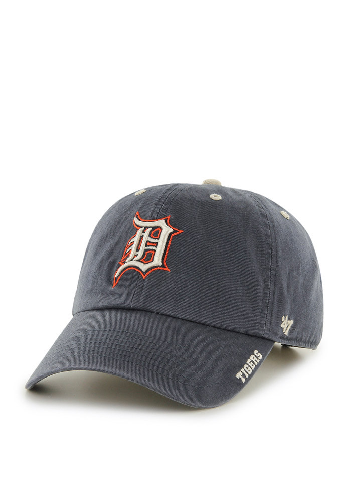 '47 Detroit Tigers Mens Navy Blue Ice Clean Up Adjustable Hat - Image 1