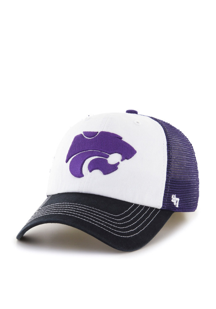 '47 K-State Wildcats Mens Purple McKinley Closer Flex Hat - Image 1