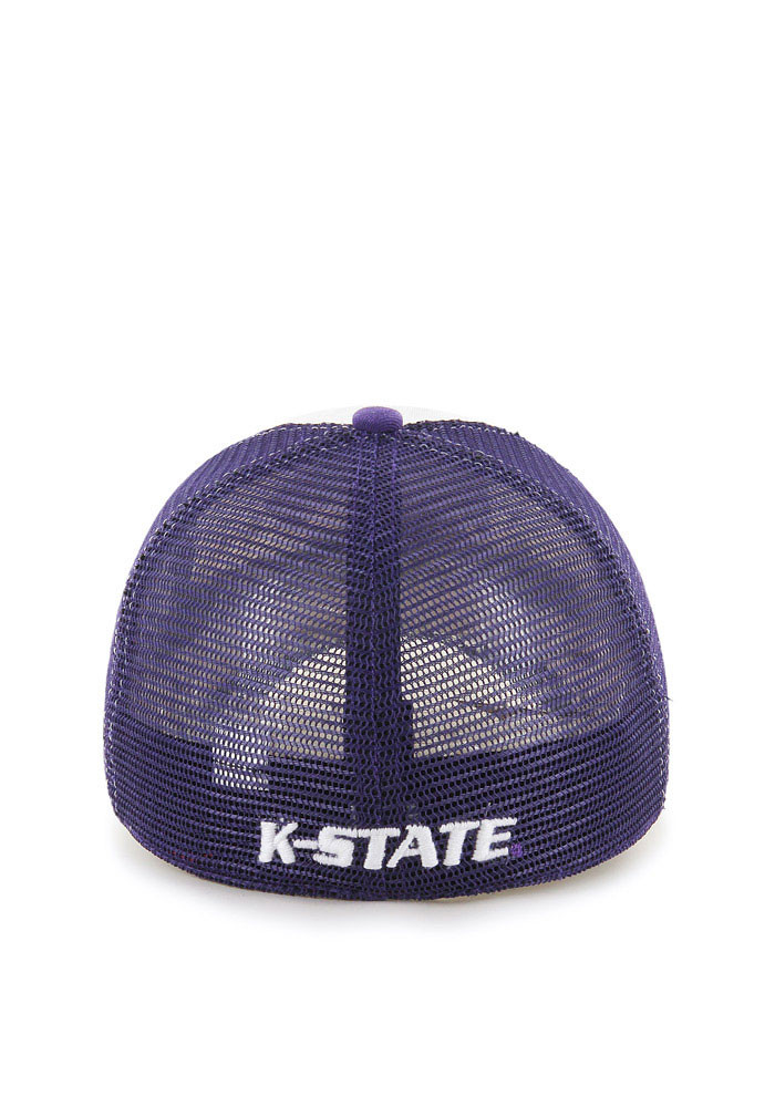 '47 K-State Wildcats Mens Purple McKinley Closer Flex Hat - Image 2