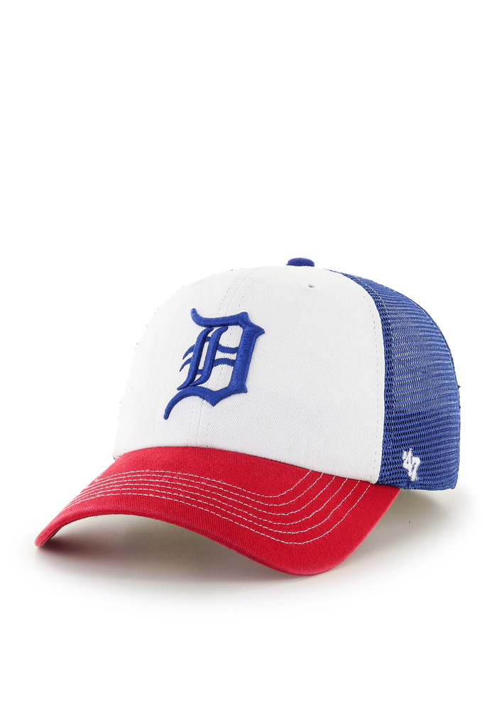 '47 Detroit Tigers Mens Blue USA McKinley Closer Flex Hat - Image 1