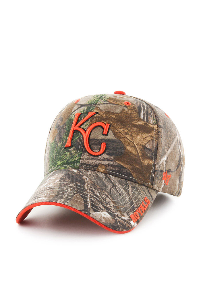 '47 Kansas City Royals RealTree Frost MVP Adjustable Hat - Green - Image 1