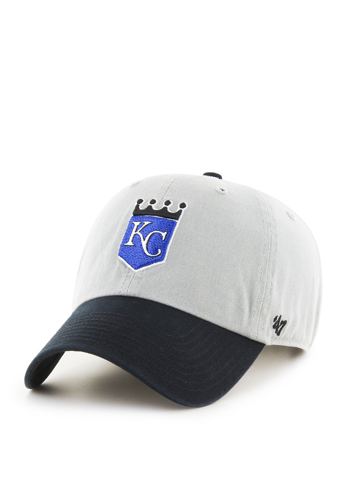 47 Kansas City Royals 2002 Crown Clean Up Adjustable Hat - Grey