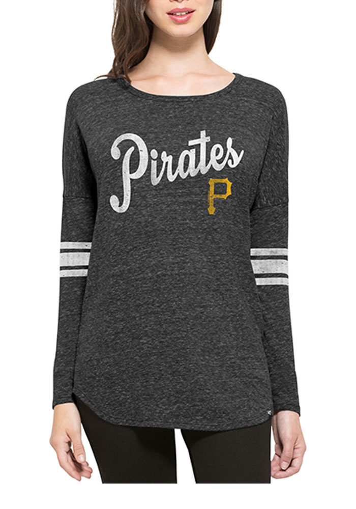 '47 Pittsburgh Pirates Womens Black Neps LS Tee - Image 1