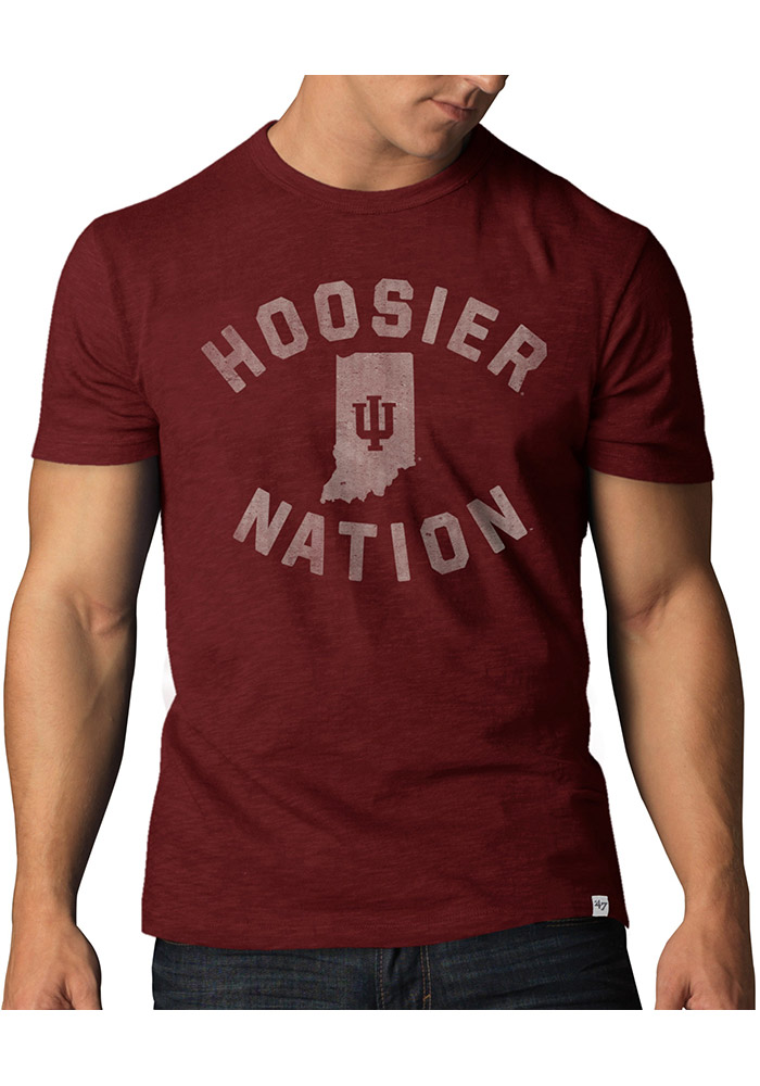 47 Indiana Hoosiers Red Scrum Short Sleeve Fashion T Shirt - Image 1