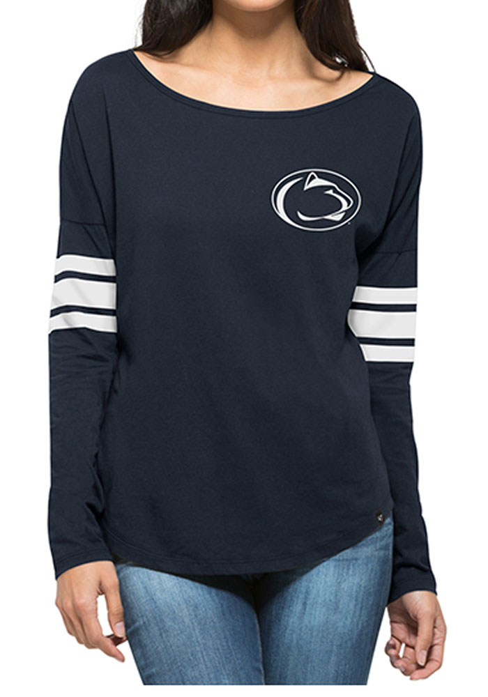 47 Penn State Nittany Lions Womens Navy Blue Courtside LS Tee - Image 1