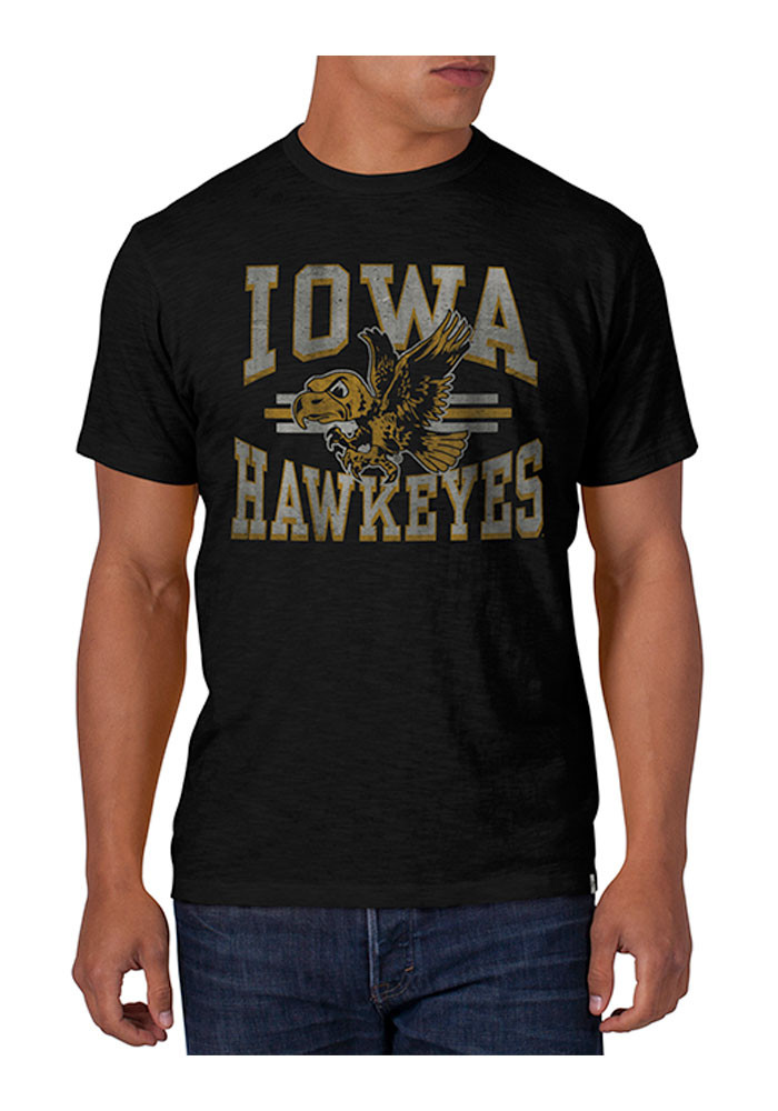 '47 Iowa Hawkeyes Mens Black Scrum Short Sleeve Fashion T Shirt - Image 1