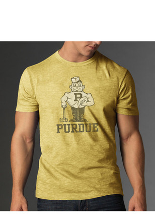 47 purdue boilermakers gold scrum fashion tee